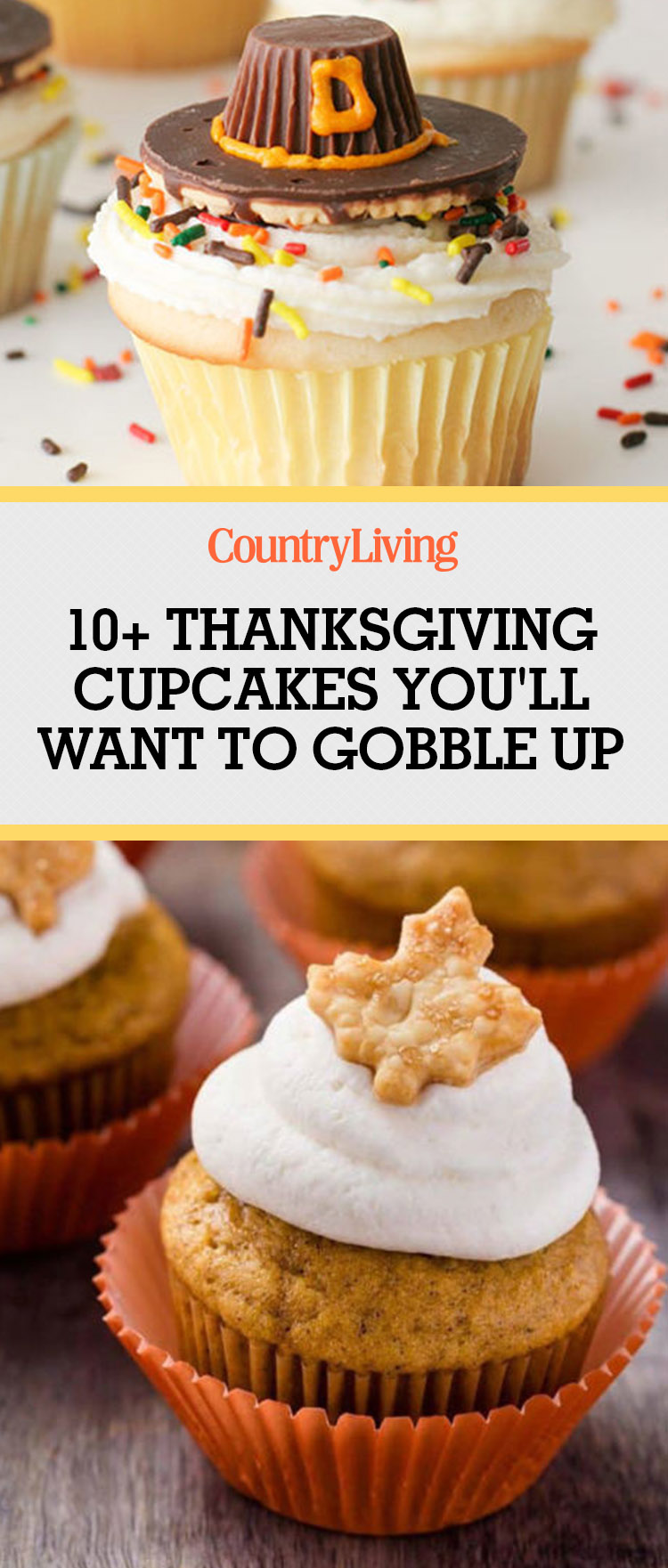 12 easy thanksgiving cupcakes cute decorating ideas and for Decorations for thanksgiving cupcakes