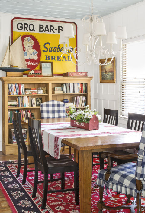 Gingham Arm Chairs
