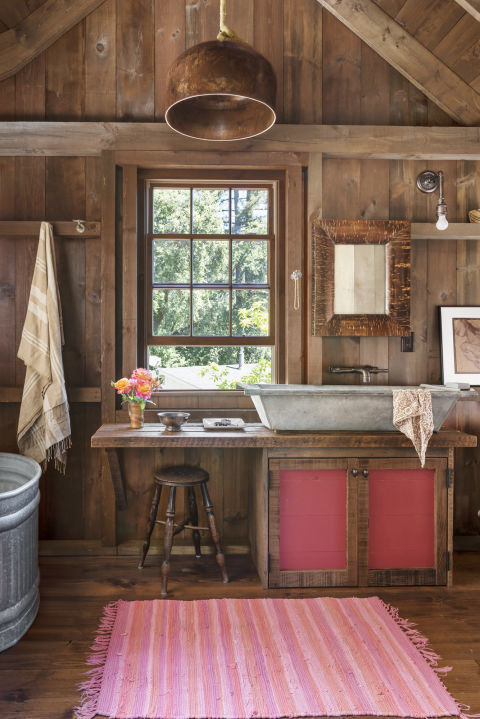 repurposed items - Rustic Bathroom