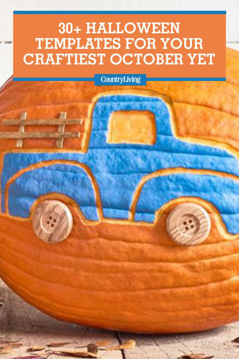 30 halloween pumpkin templates u0026 stencils country living