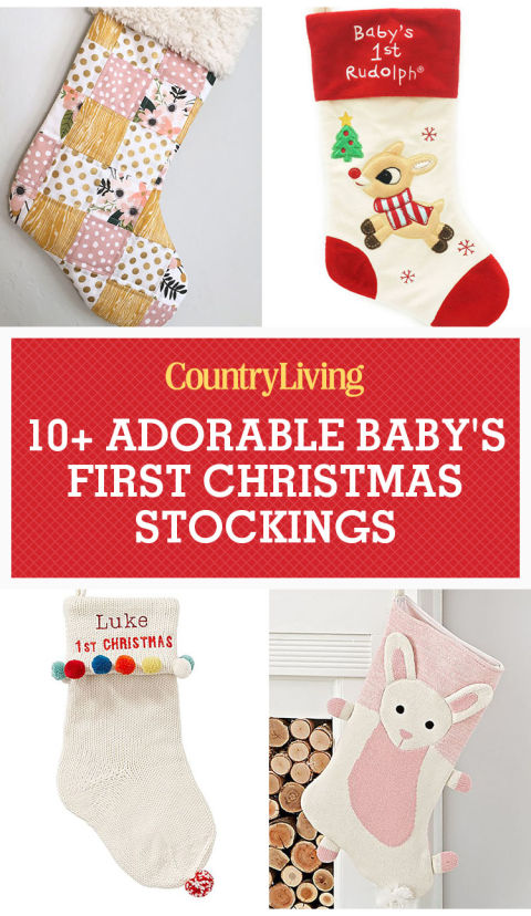 11 Baby's First Christmas Stockings - Cute Ideas for Infant Boy ...
