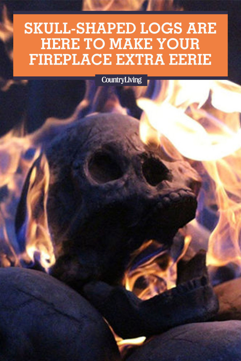you need these skull shaped logs for your halloween bonfire
