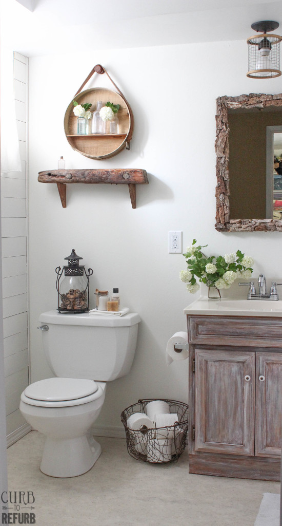 Cost Of Refurbishing A Bathroom Collection this incredible rustic bathroom makeover cost less than $100