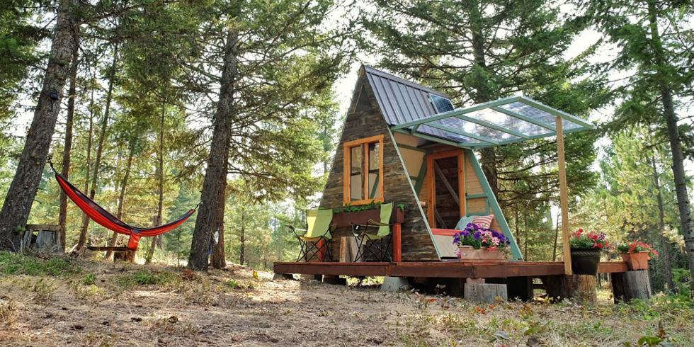This Couple Built A Tiny A Frame Home For Only 700