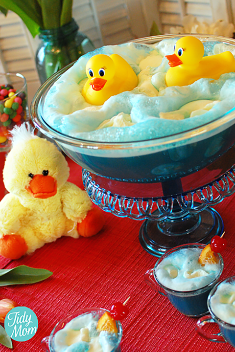 Creative Baby Shower Appetizers Part - 20: Ducky Baby Shower Punch