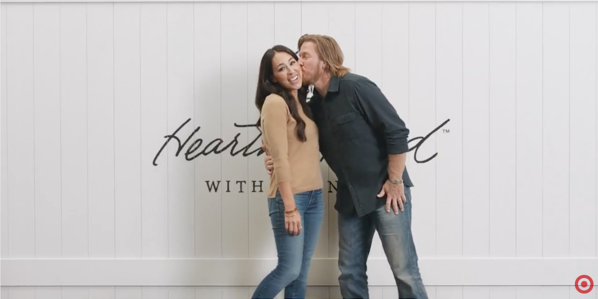 watch chip and joanna gaines in target 39 s new holiday. Black Bedroom Furniture Sets. Home Design Ideas