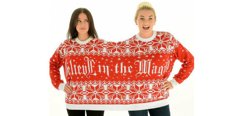 Best 'Twosie' Christmas Sweater - Two Person Christmas Sweater for Couples and Friends