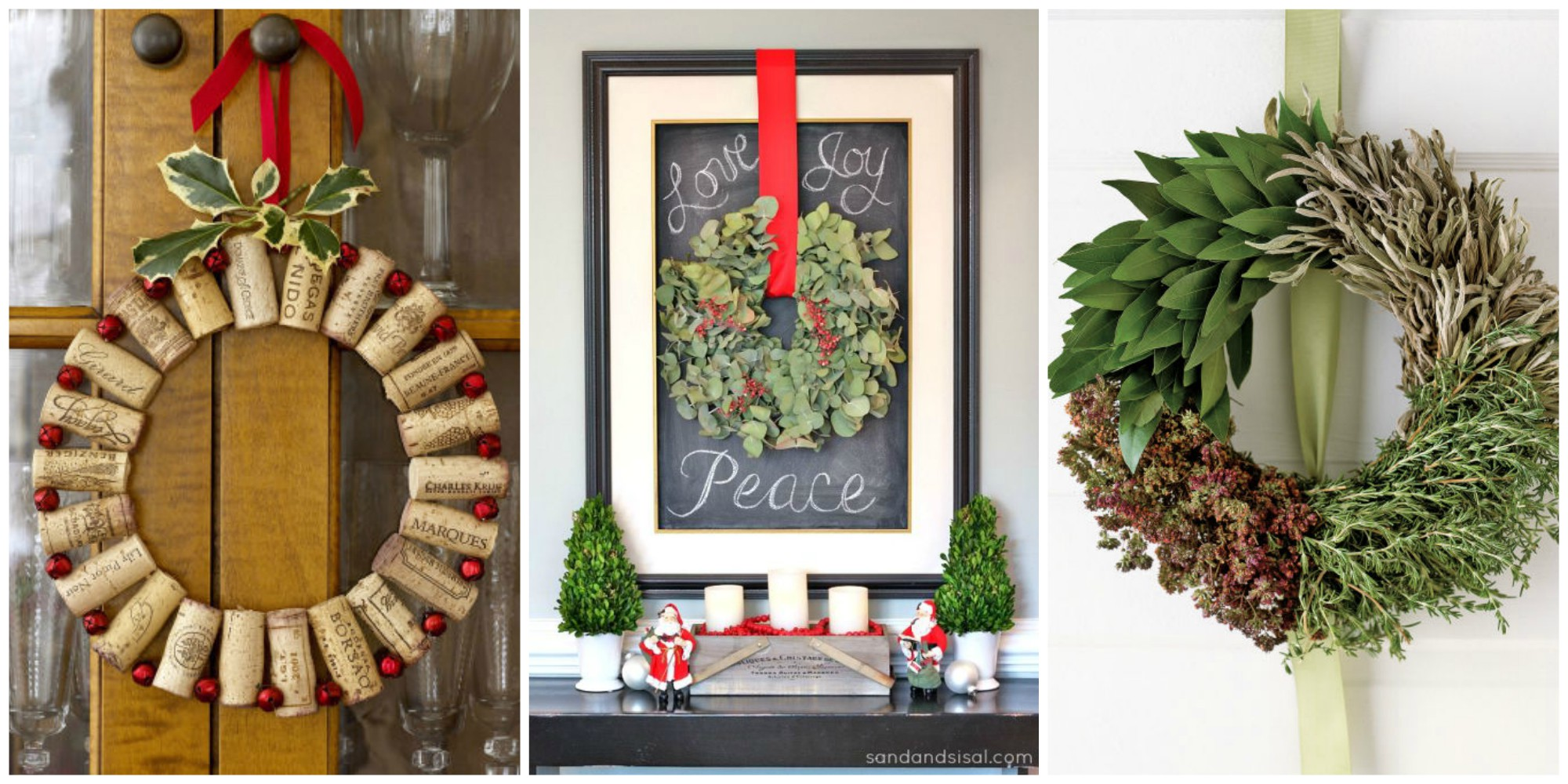 50 diy christmas wreath ideas how to make holiday How to hang garland on a christmas tree