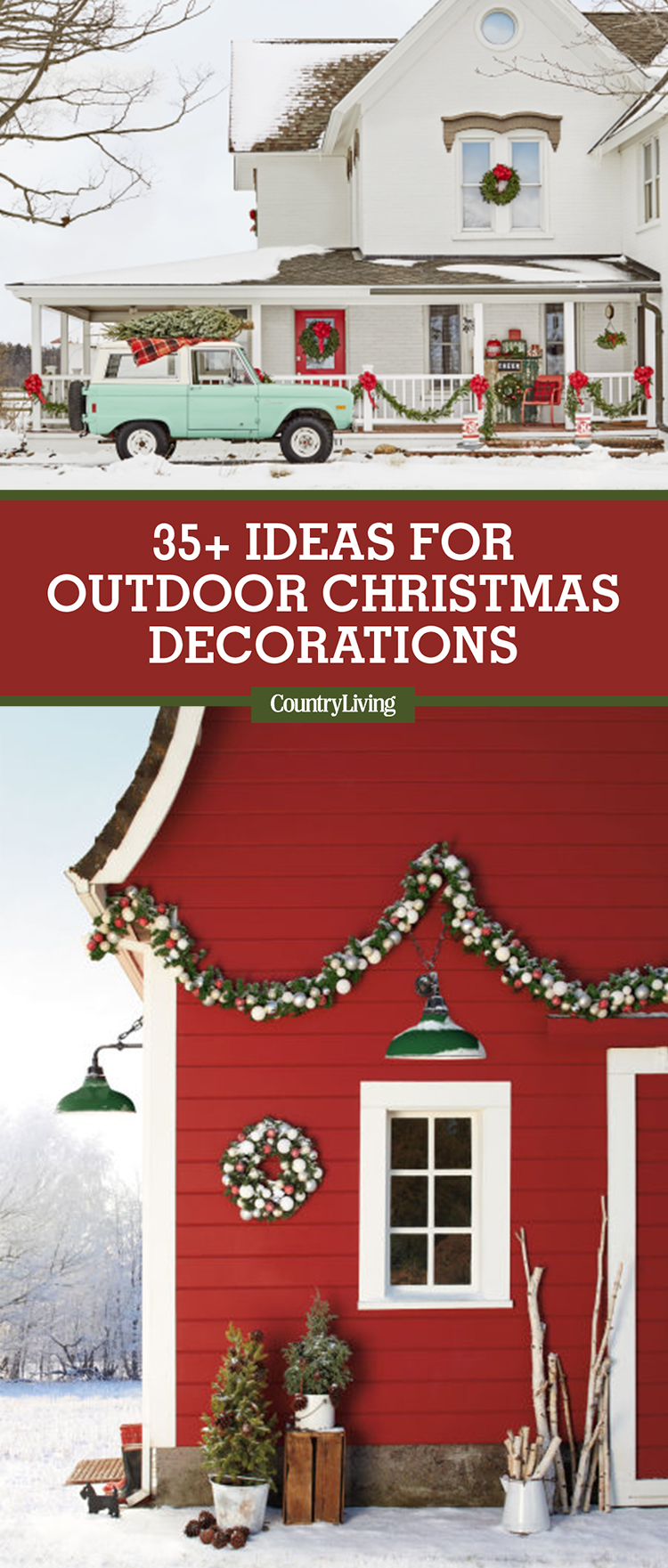 34 outdoor christmas decorations ideas for outside for Idea deco guijarro exterior