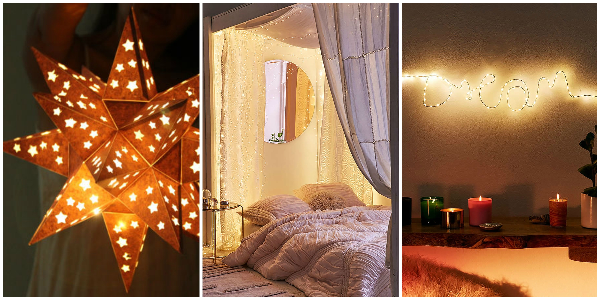 24 ways to decorate your home with christmas lights for Room decor with fairy lights