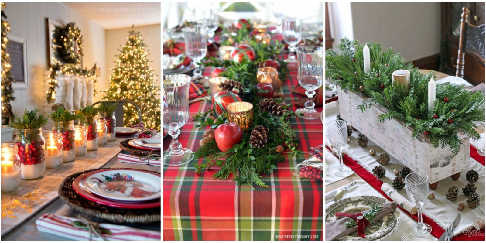 Best christmas table settings decorations and