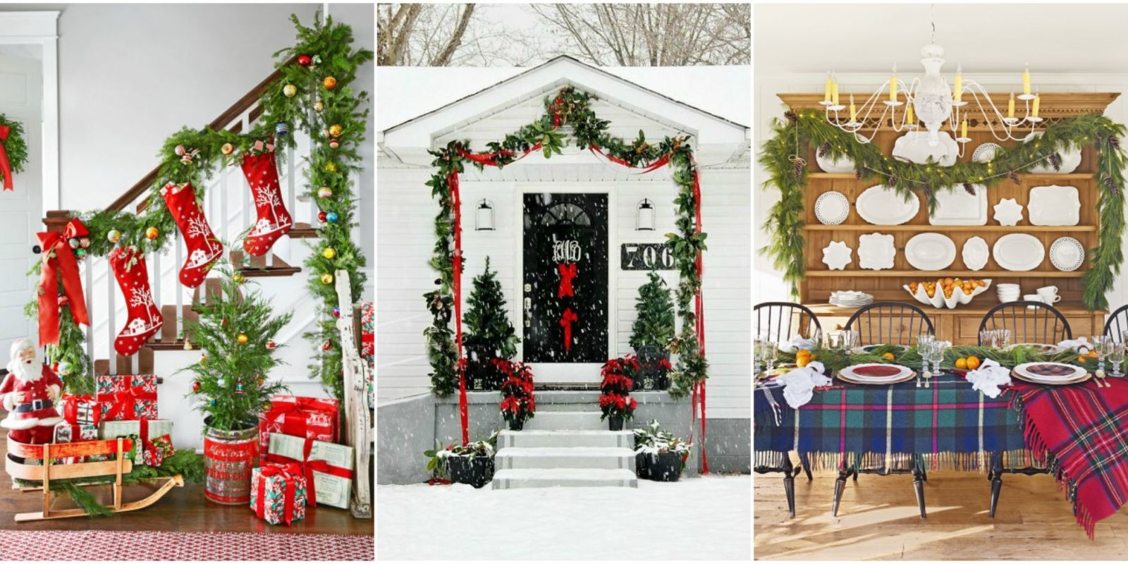 60 best christmas garland ideas decorating with holiday for Decoration interieur de noel