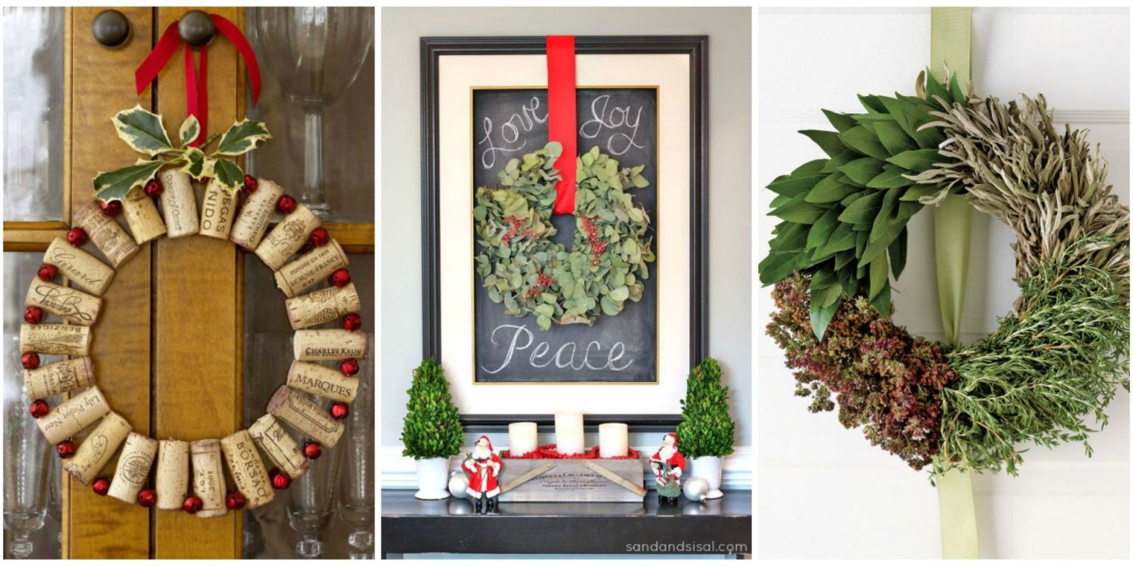 50 diy christmas wreath ideas how to make holiday for How to make christmas door wreaths