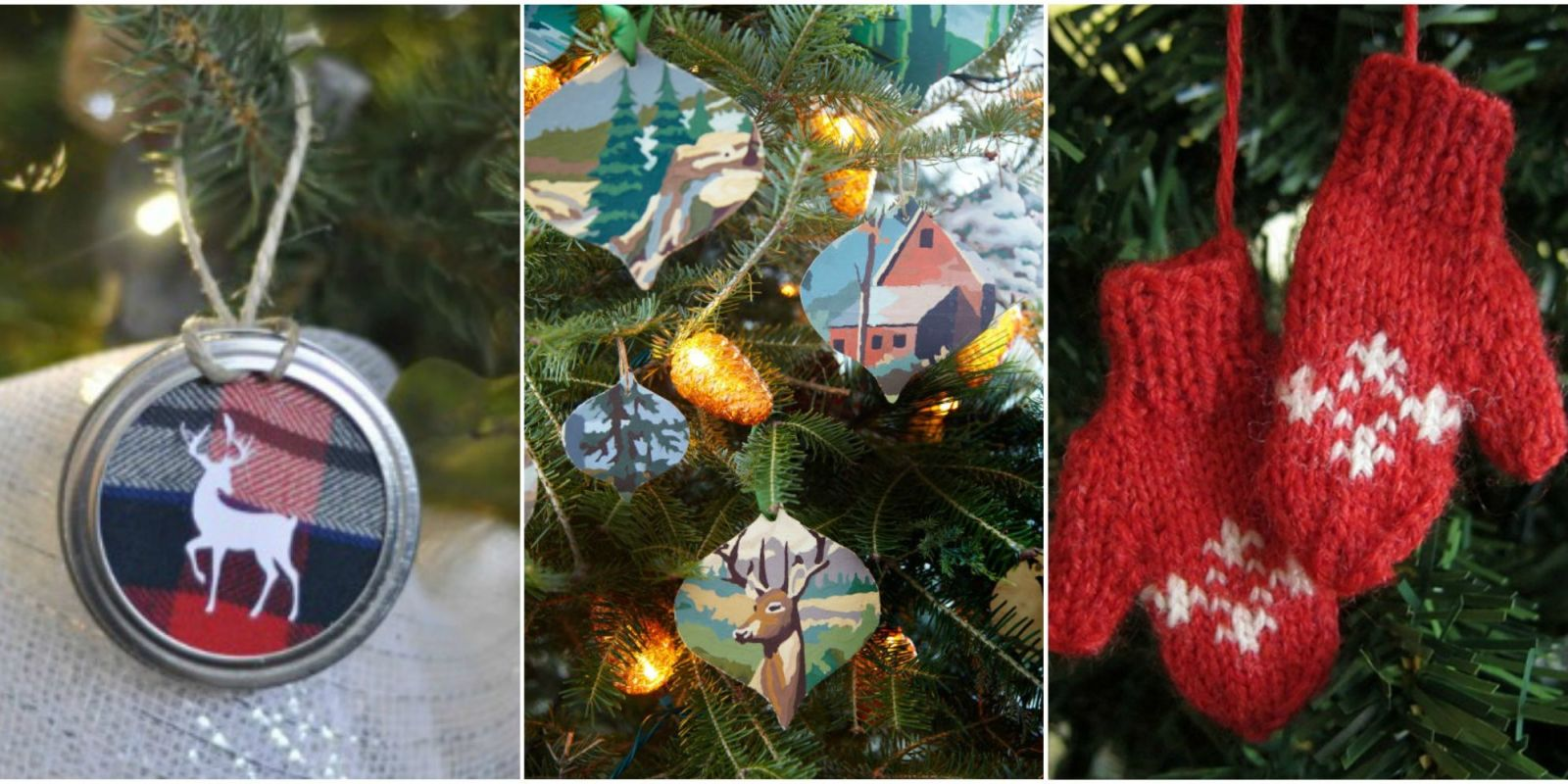 55 homemade christmas ornaments diy crafts with for Homemade tree decorations