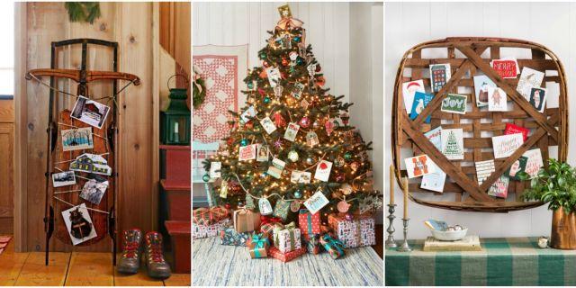 ways to display christmas cards. Decorating Ideas