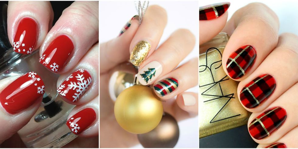 11 best christmas nail art design ideas 2017 easy holiday nails christmas nail art ideas prinsesfo Images