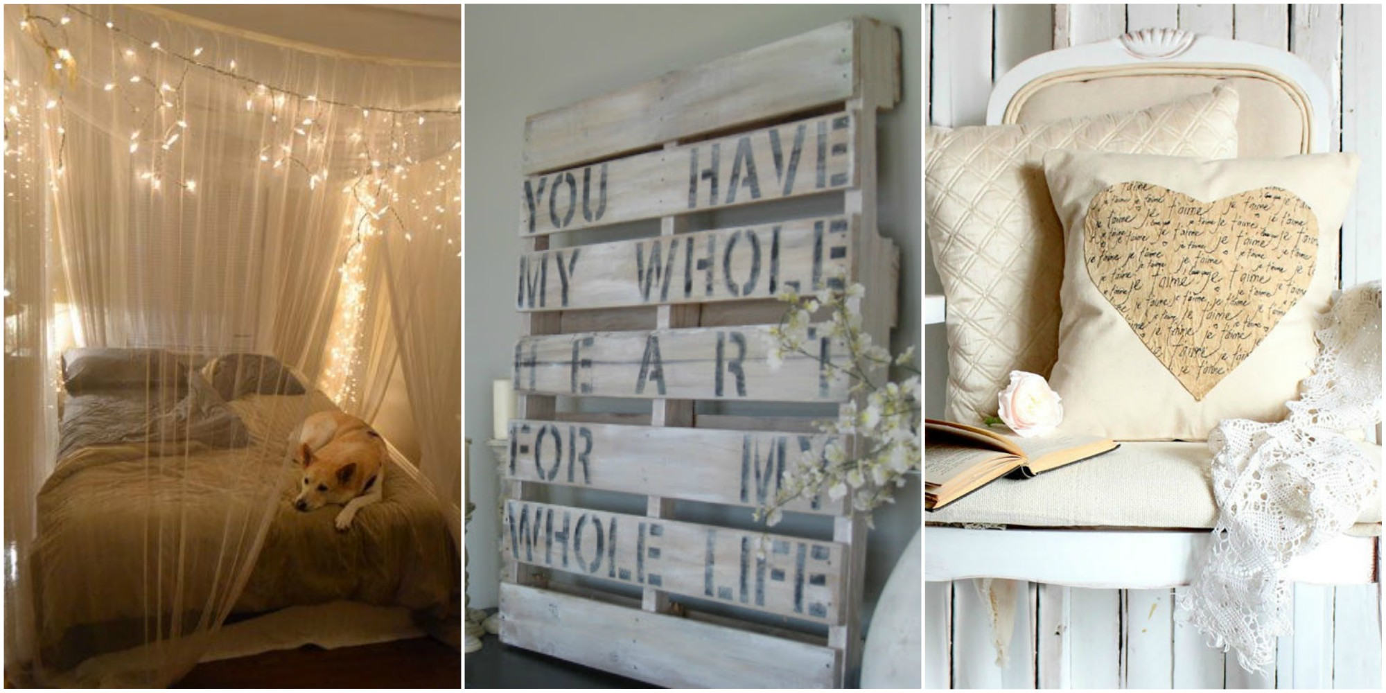 21 diy romantic bedroom decorating ideas country living for Diy small bedroom decor ideas
