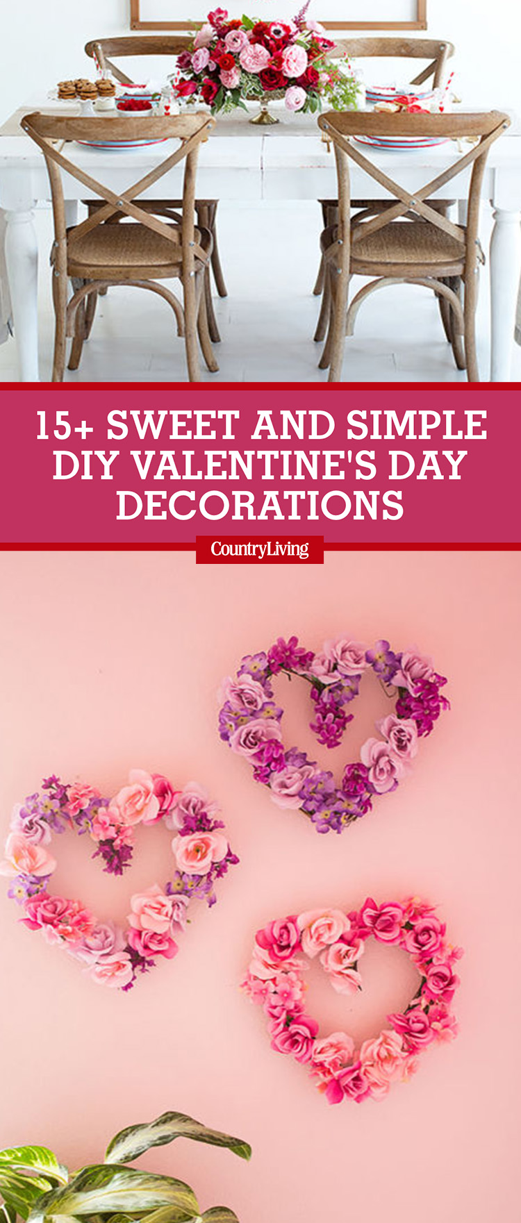 18 sweet and simple diy valentines day decorations valentine decor - Homemade Valentine Decorations