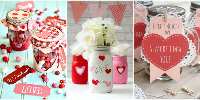 valentines day mason jar crafts - Valentines Day Sweets
