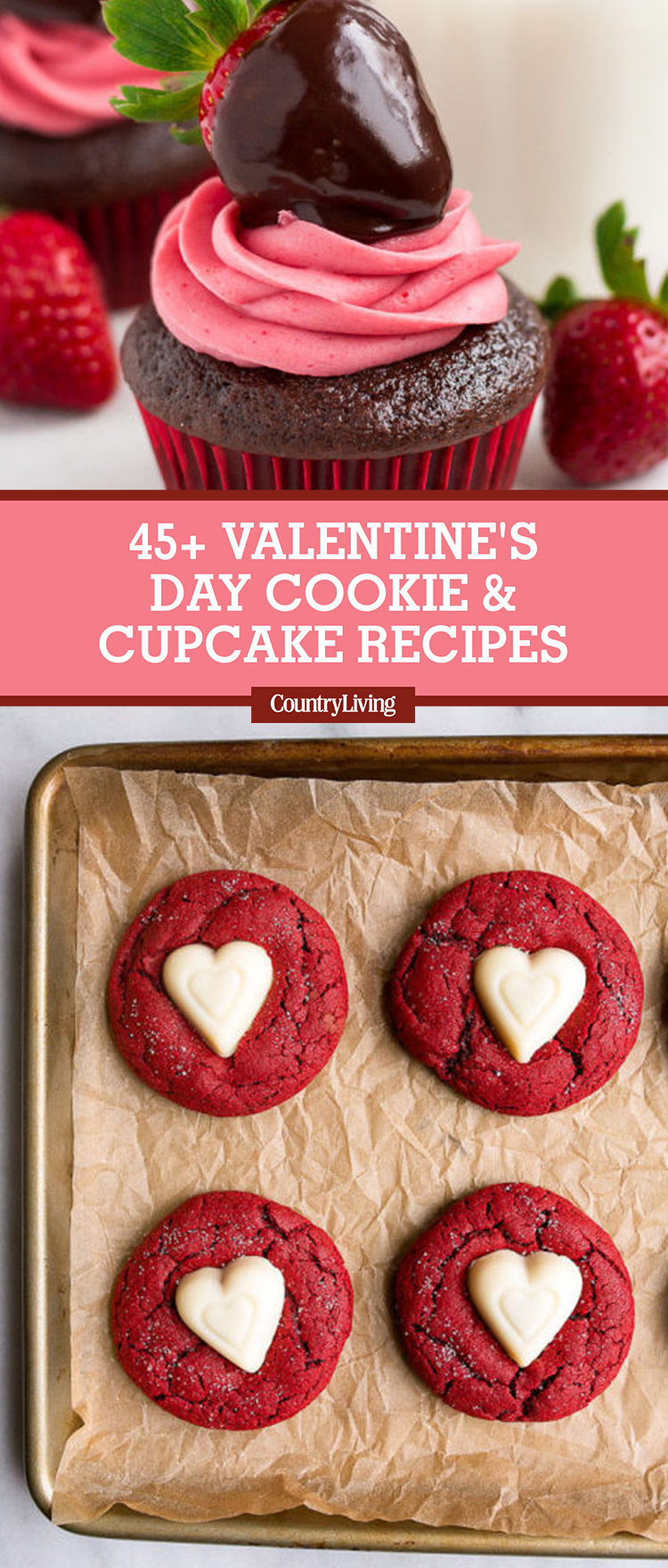 45 best valentines day cookies and cupcakes recipes country living - Valentine Cupcake Recipes