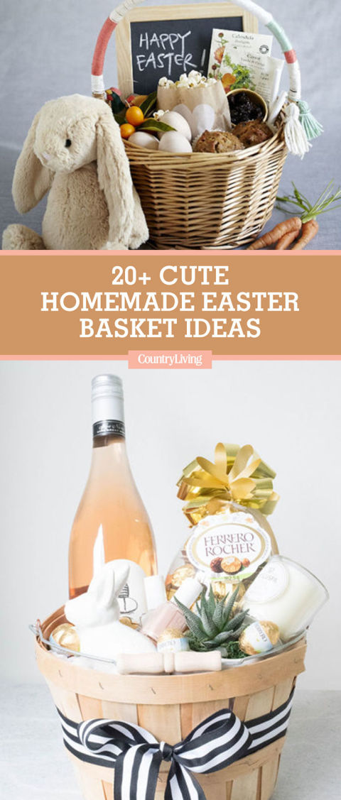 23 cute homemade easter basket ideas easter gifts for kids and save these ideas negle Image collections