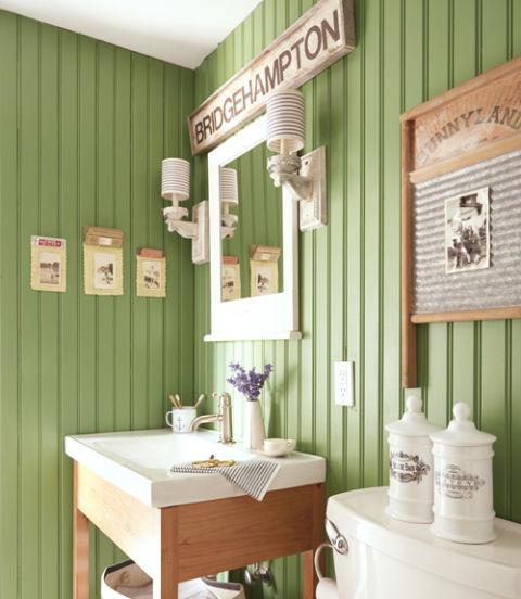 74 bathroom decorating ideas designs decor for Green painted bathroom ideas