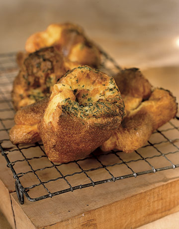 A delicate sweetness, faint and lingering, enriches baked goods that are prepared with fresh eggs. These golden herb popovers complement any meal and are so easy to prepare. Recipe: Herbed Popovers