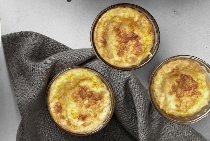 This cheesy grit pudding is a scrumptious Southern favorite. Recipe: Cheese Grits and Corn Pudding