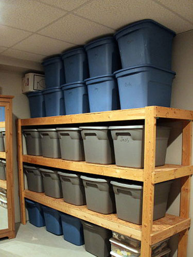 Finished basement storage ideas the for Basement storage ideas