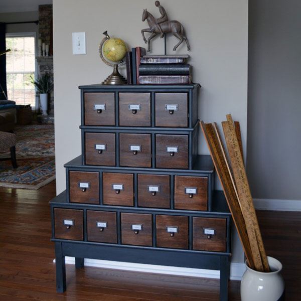 Before U0026 After: An Apothecary Cabinet Gets A Vintage Inspired Makeover