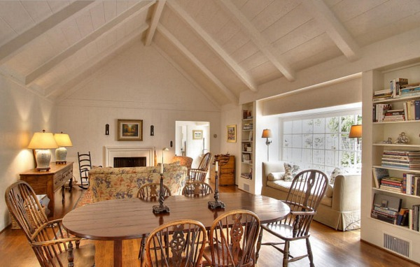 this seaside 1920s cottage brings english country charm to california - Country Cottage Dining Room Ideas