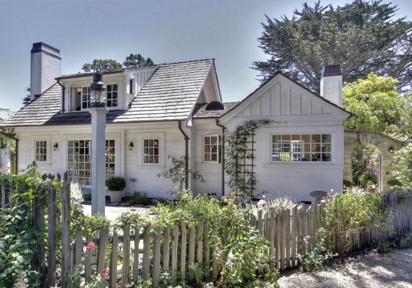 Tour the Coziest English-Style Cottage in Carmel-by-the-Sea, California