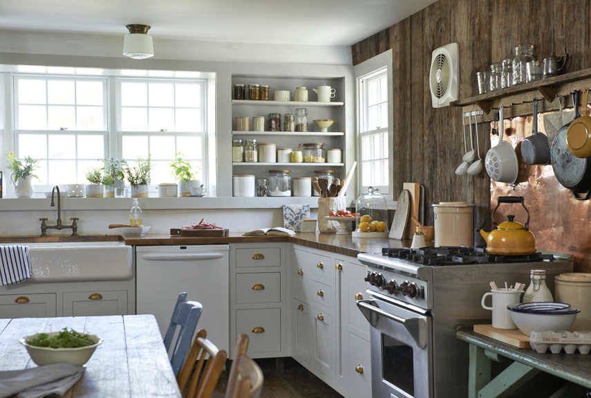 after charming farmhouse kitchen