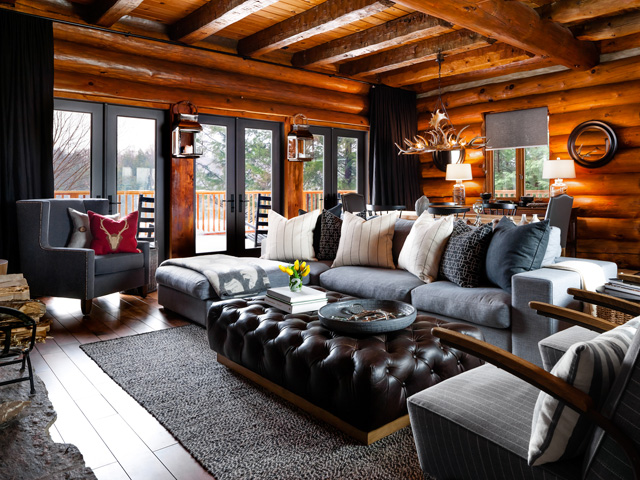 Living Room Decorating Ideas Log Cabin log cabin makeover ideas - colin and justin's cabin pressure