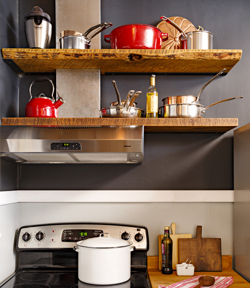 Kitchen Shelf Above Stove: Small Kitchen Storage And Remodeling
