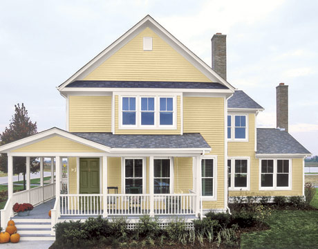 House paint color combinations choosing exterior paint for Yellow exterior paint colors