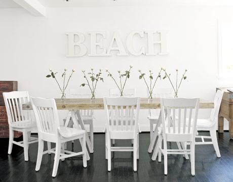 35 Beach House Decorating Beach Home Decor Ideas – Coastal Dining Room Set
