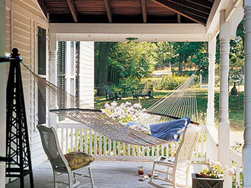 Hammock On Porch