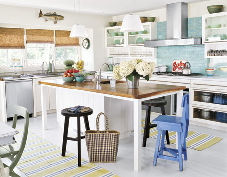 30 beach house decorating beach home decor ideas for Beach house kitchen plans