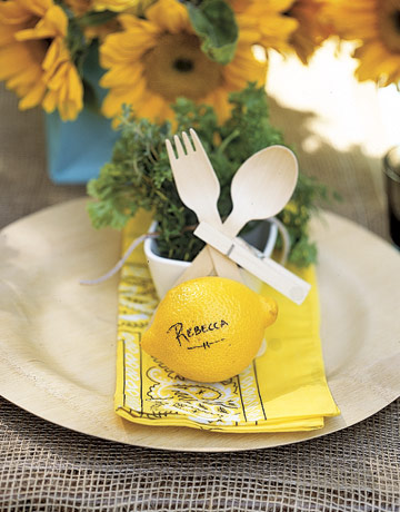 summer party tricks - simple table decorations