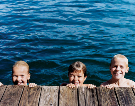 Kids Swimming In A Lake fine kids swimming in a lake or reservoir can help remove mites