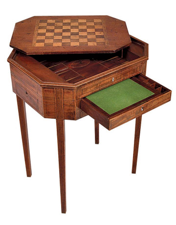 Wonderful Antique Chess Table