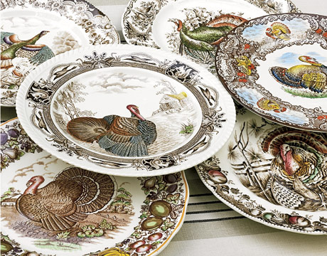 talk turkey - Thanksgiving China Patterns