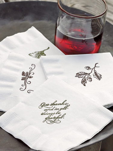 Stamped Thanksgiving Napkins from Gridley & Graves on Country Living  ||  Friday Favorites at www.andersonandgrant.com