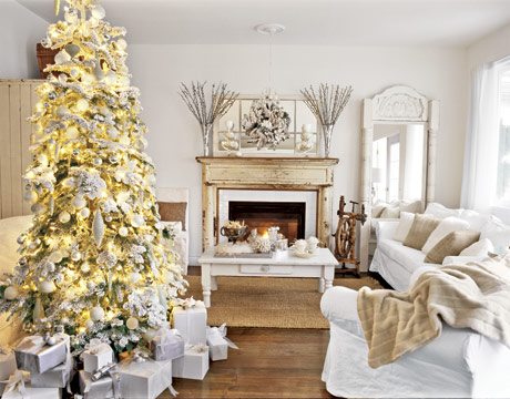 Home Christmas Decorations white christmas decorations - bright and white christmas home décor