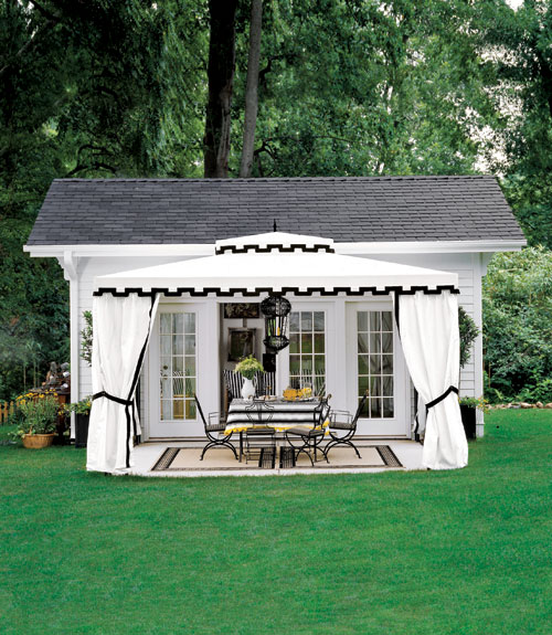 Plans for an outdoor room outdoor dining room for Outdoor garden rooms