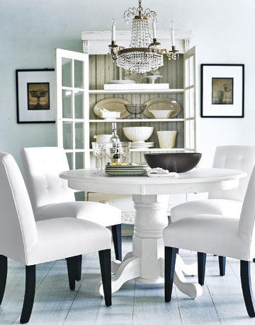 version of white dining room