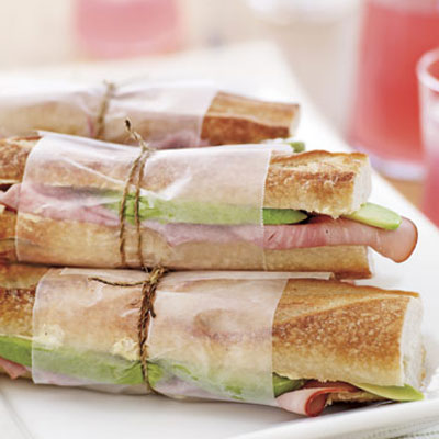 Avocado and Ham Sandwiches
