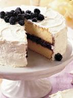Lemon And Blackberry Cassis Jam Filled Cake