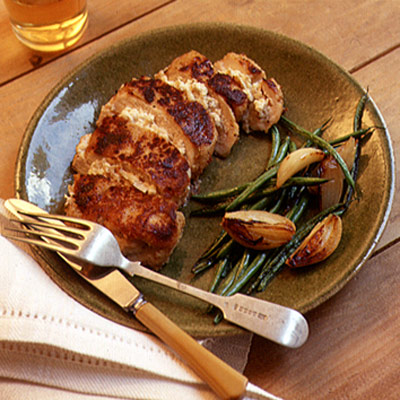Chicken Breasts Stuffed with Apple and Goat Cheese